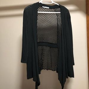 Maurices black open weave cardigan